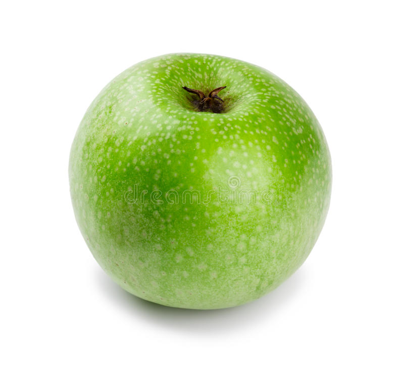 Ripe And Juicy Green Apple A Shank Downwards Royalty Free Stock Images