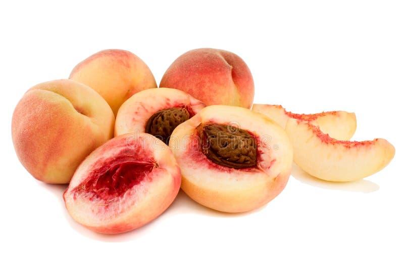 Ripe, juicy peaches. stock photo