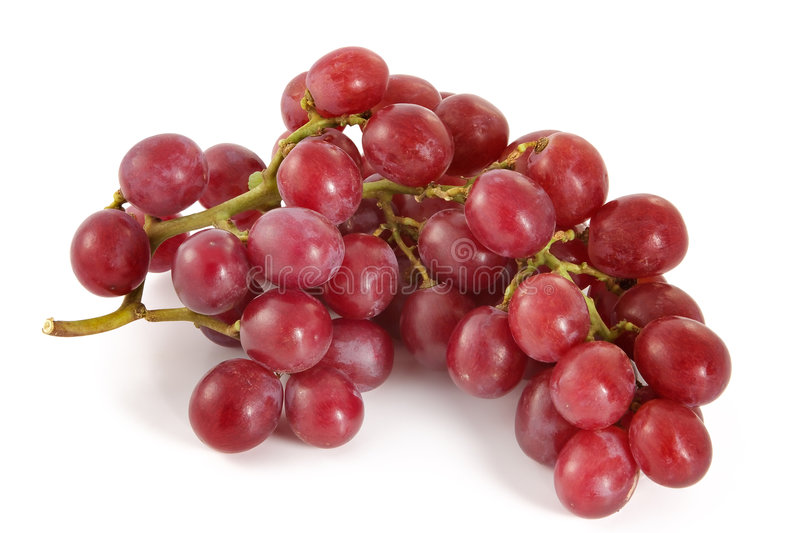 Ripe juicy red grapes with large berries royalty free stock images