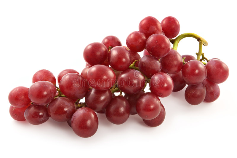 Ripe juicy red grapes with large berries stock photos