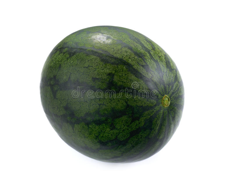 Ripe and juicy water melon isolated on white background royalty free stock image