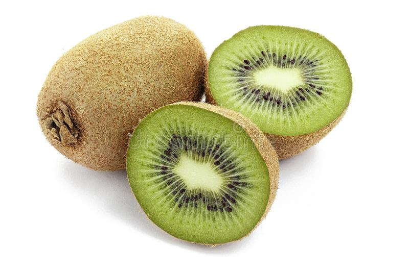 Ripe kiwi isolated royalty free stock image