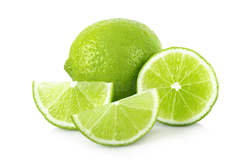 Download Ripe lime with slices stock photo. Image of freshness - 71348874