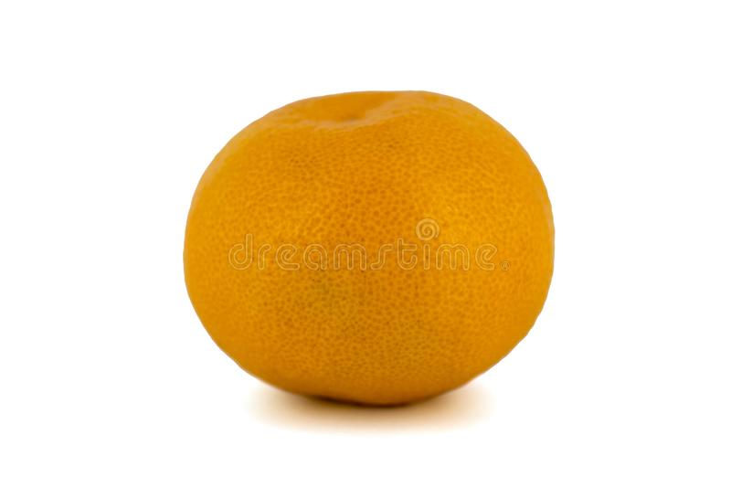 Ripe mandarin citrus isolated tangerine mandarin orange on white background royalty free stock photos
