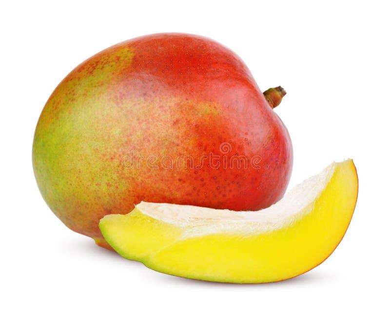 Ripe mango fruit with slice royalty free stock photography
