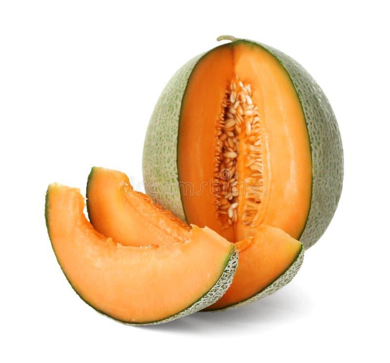Ripe melon on background. Ripe melon on white background stock photo
