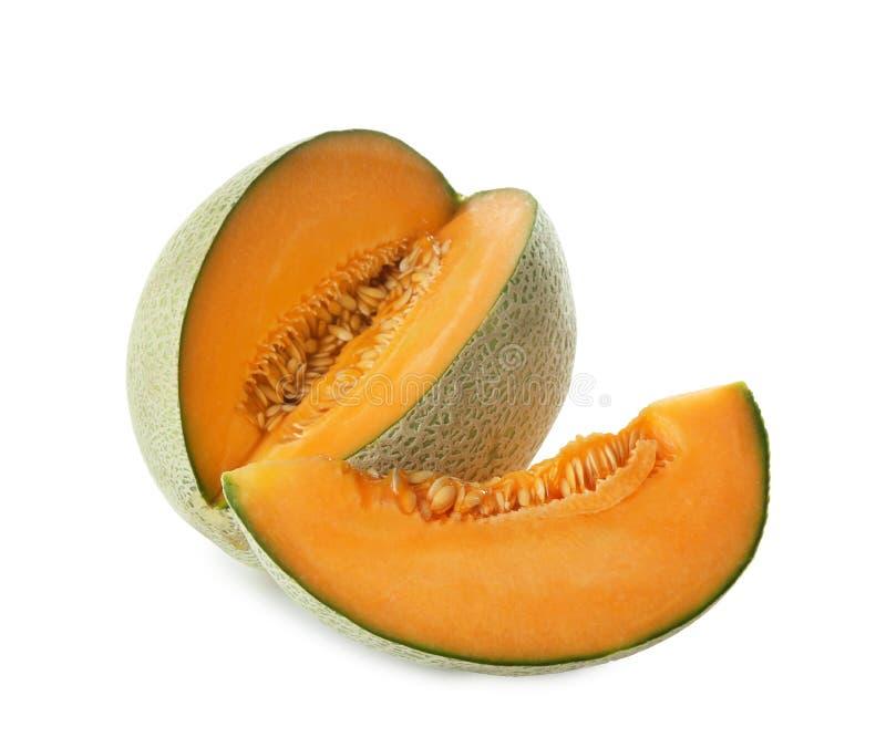 Ripe melon on background. Ripe melon on white background royalty free stock image