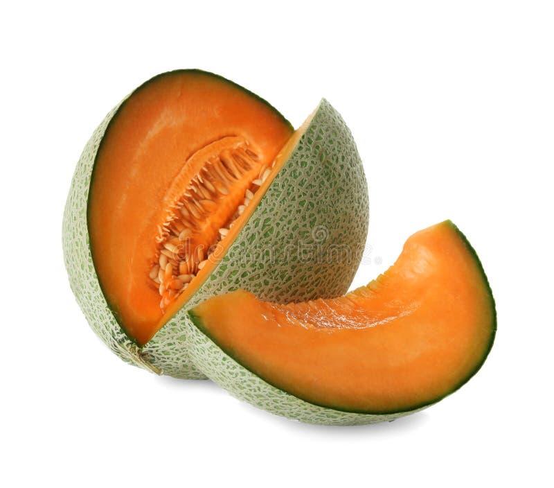 Ripe melon on background. Ripe melon on white background stock image