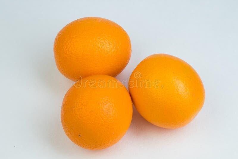 Ripe orange fresh orange, isolated on white background. stock photography