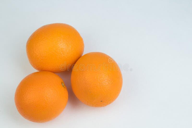 Ripe orange fresh orange, isolated on white background. royalty free stock photos