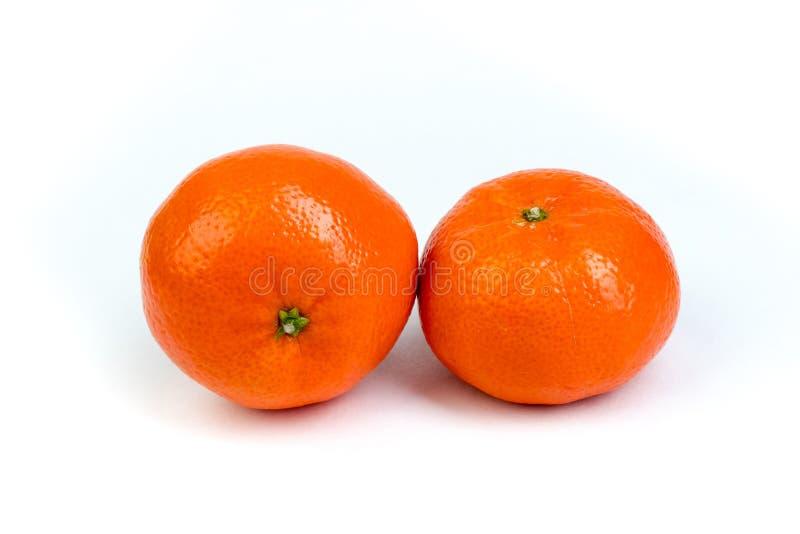 Ripe orange fresh mandarin, mandarin slices, isolated on white background. royalty free stock image