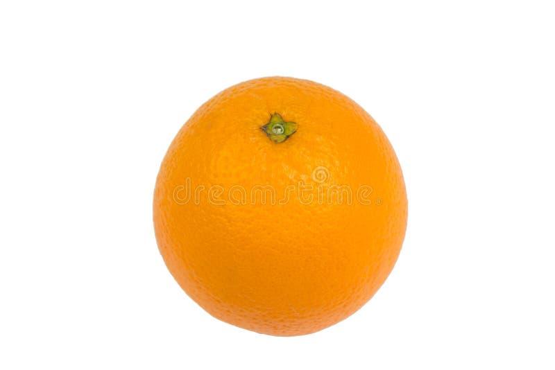 Ripe orange fresh orange, isolated on white background. royalty free stock photo