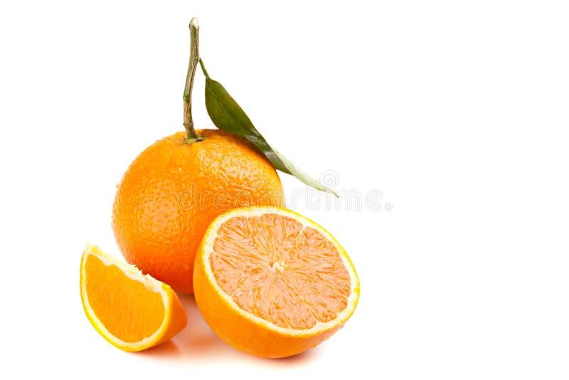 Download Ripe Orange Fruit With Leaf Stock Photo - Image: 30982254