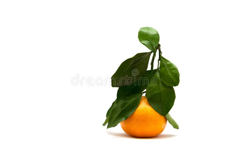 Ripe orange tangerine as Christmas tree, holiday close stock photos