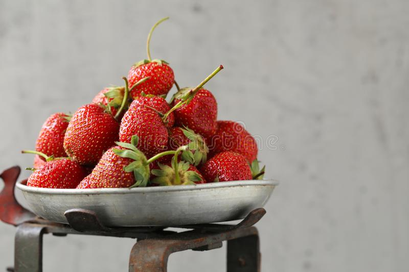Sweet strawberries. Ripe organic sweet strawberries on the table royalty free stock photography