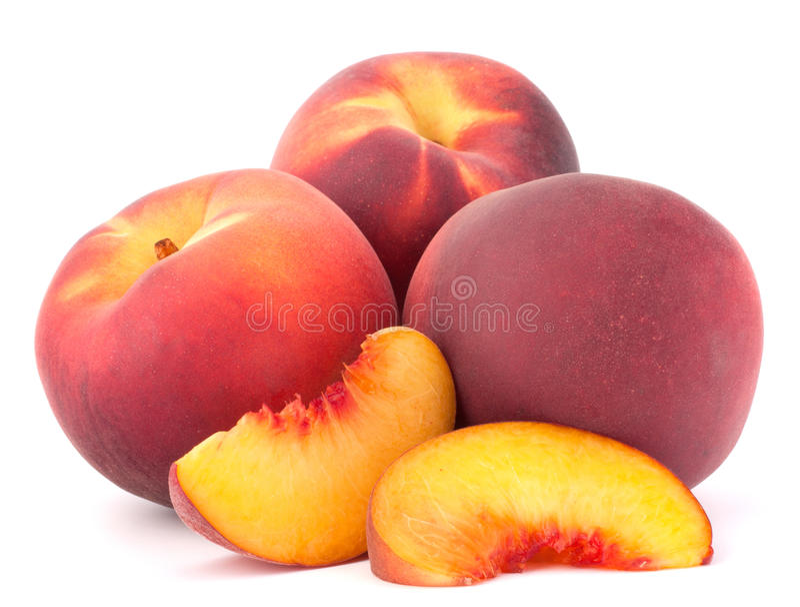 Ripe peach fruit royalty free stock photography