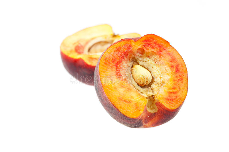 Ripe Peaches Isolated On White Royalty Free Stock Images