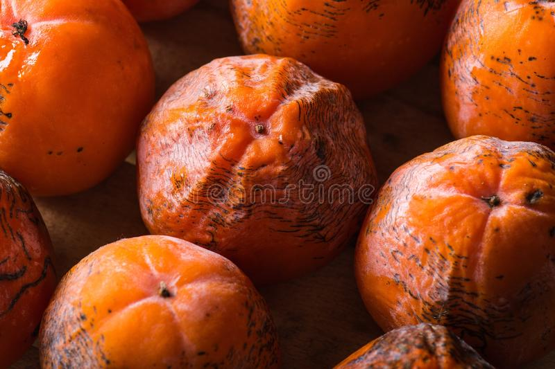 Persimmon. The frozen persimmon of a winter crop royalty free stock photo