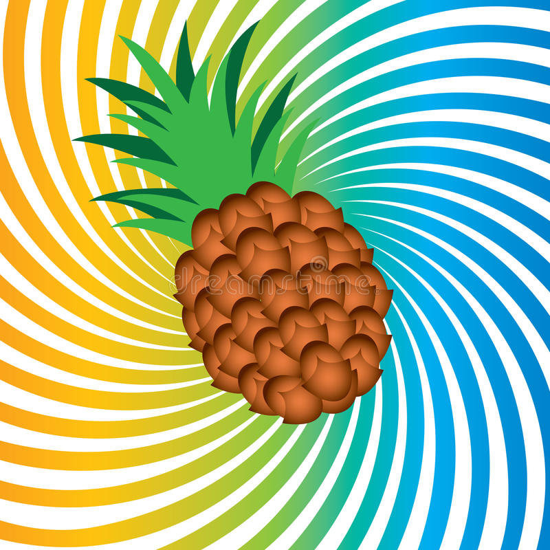 Download Ripe pineapple stock vector. Image of dessert, object - 19637420