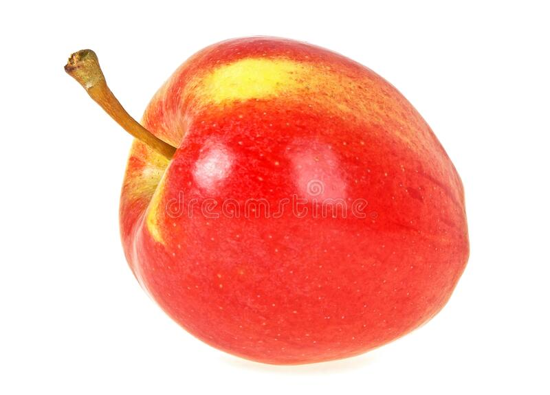 Ripe red apple isolated on white background. Ripe red apple isolated on a white background stock photo