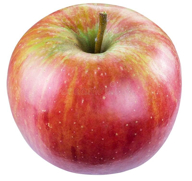 Ripe red apple. Clipping paths stock images
