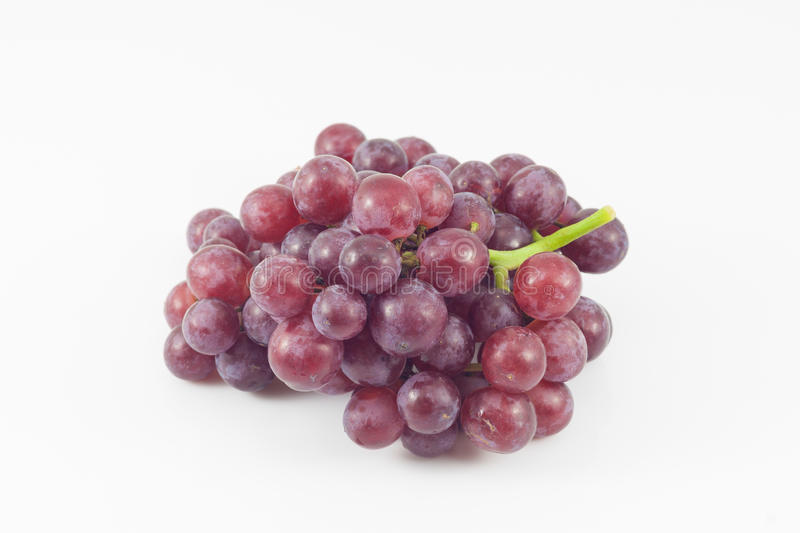 Ripe red grapes isolated royalty free stock photos