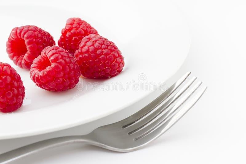 Ripe Red Raspberries Royalty Free Stock Photos