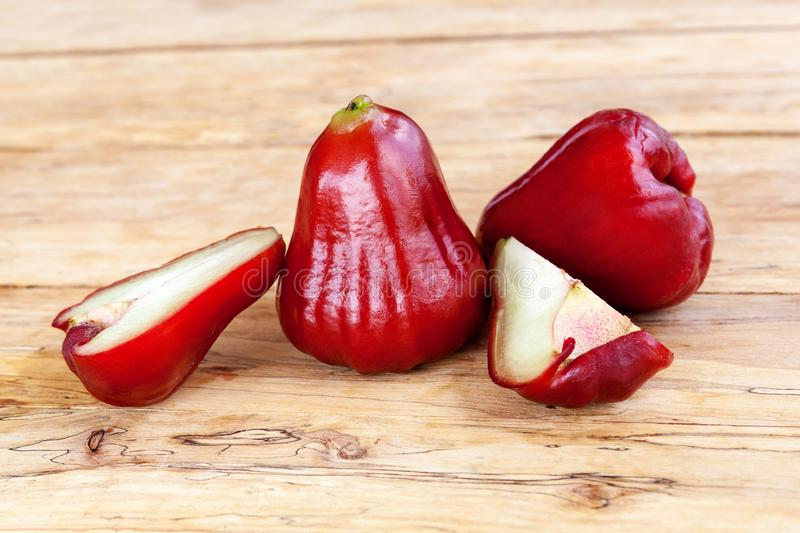 Ripe rose apple stock photography