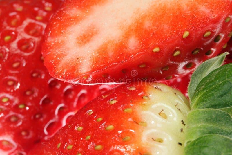 Ripe strawberries. stock images