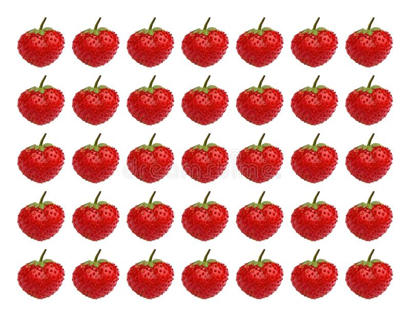 Ripe strawberries. Stereo photography effect. Photo of strawberry background. stock image