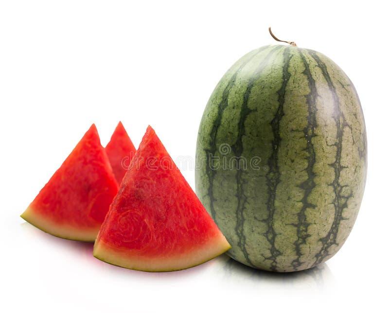 Ripe striped watermelon royalty free stock photos