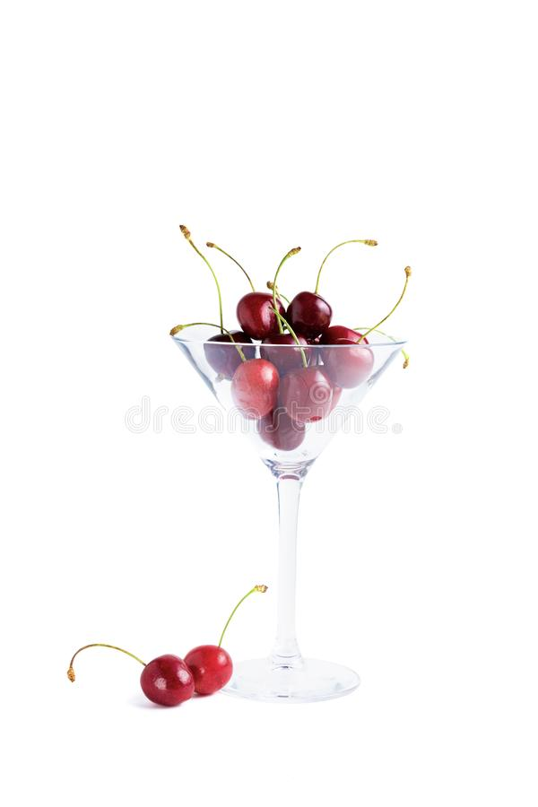 Cherry isolated on a white royalty free stock photography