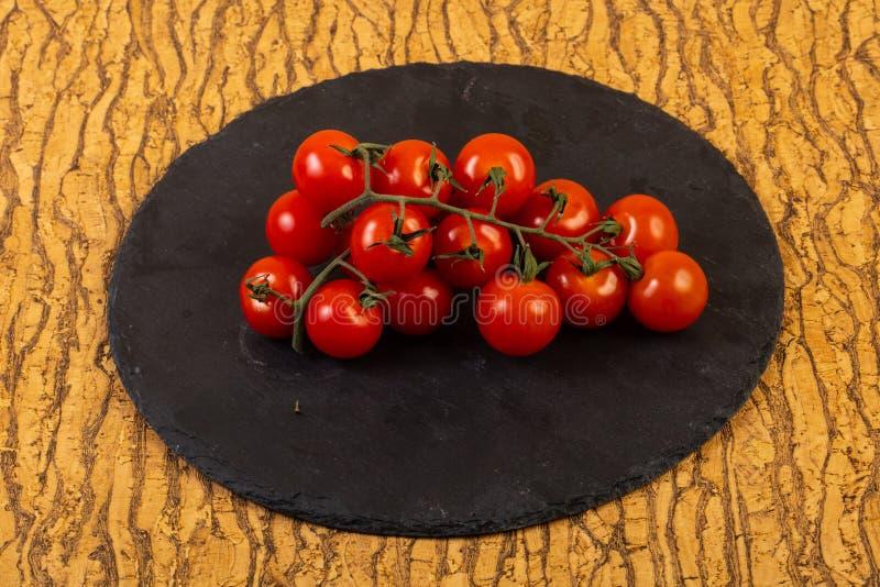Ripe tomato branch stock photography
