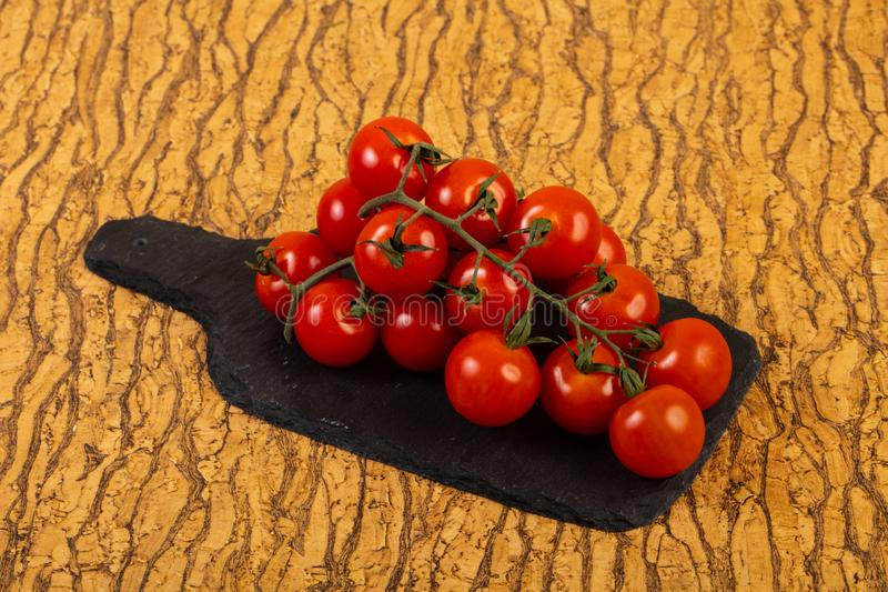 Ripe tomato branch royalty free stock photography