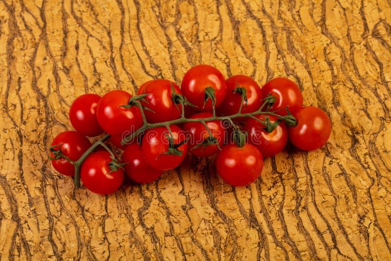 Ripe tomato branch royalty free stock image