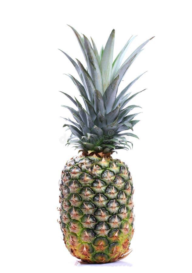 Ripe whole pineapple. Isolated on white background stock illustration