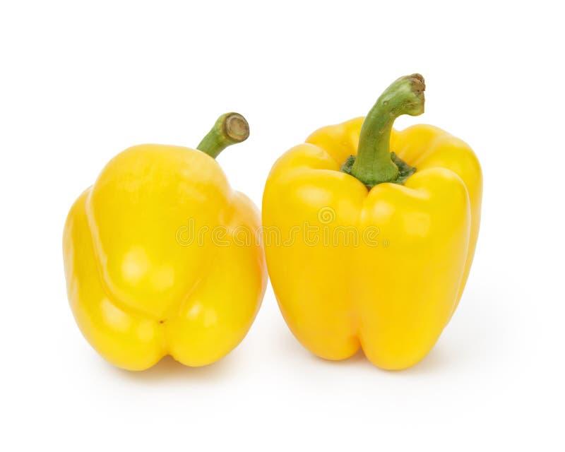 Ripe yellow bell pepper stock photos