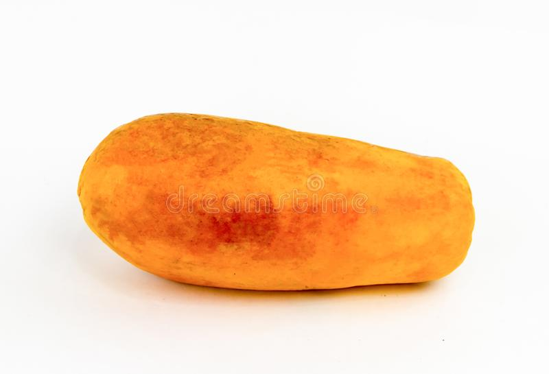 Ripe yellow red mango fruit close-up on a white background delicious stock photography