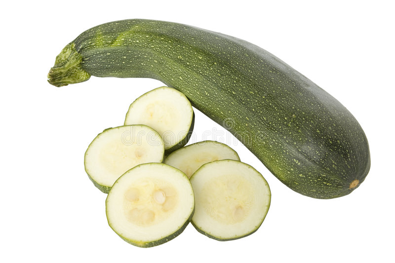 Ripe zucchinis or courgettes stock photos