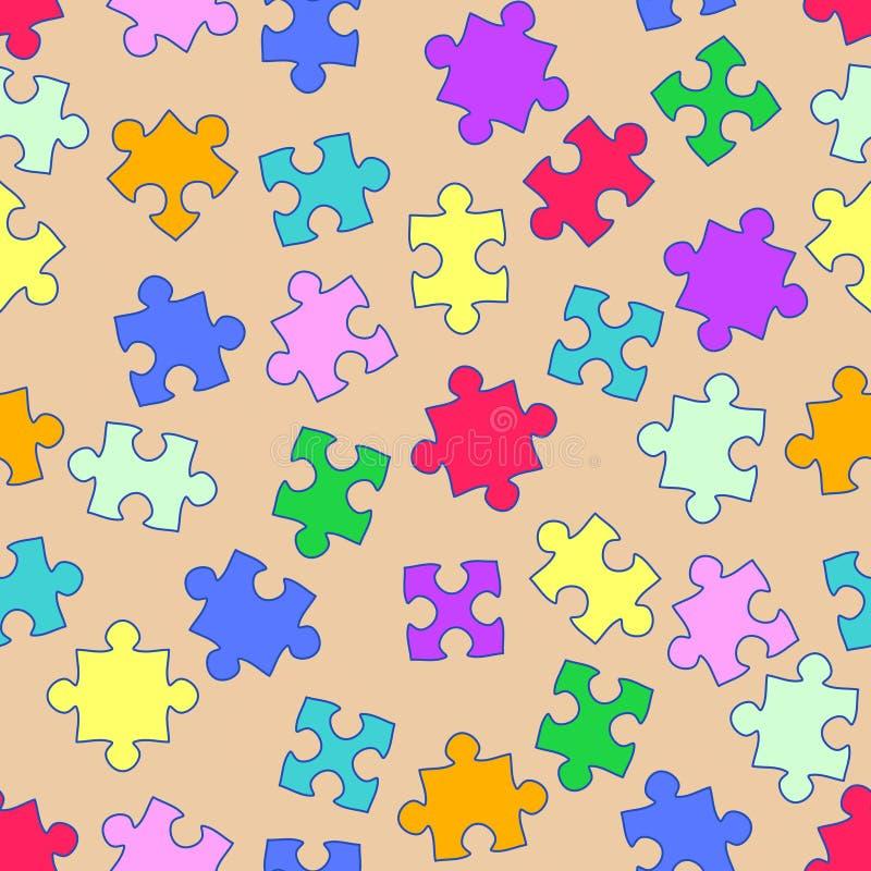 Ripeti il reticolo con i puzzle illustrazione di stock