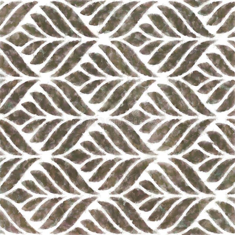Ripetizione del fondo alla moda geometrico dell'ornamento antico classico del modello di struttura illustrazione vettoriale
