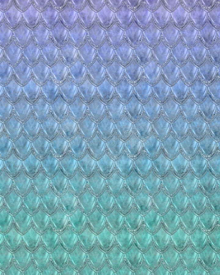 Ripetizione del modello allegro della squama della sirena illustrazione vettoriale