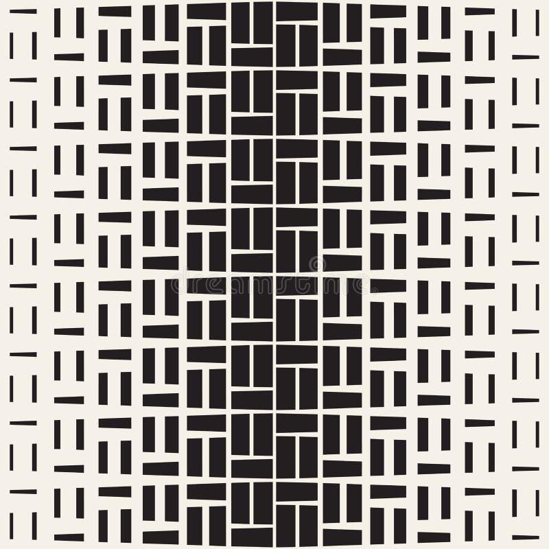 Ripetizione del semitono di rettangolo Struttura geometrica moderna della grata Modello monocromatico senza cuciture di vettore illustrazione vettoriale