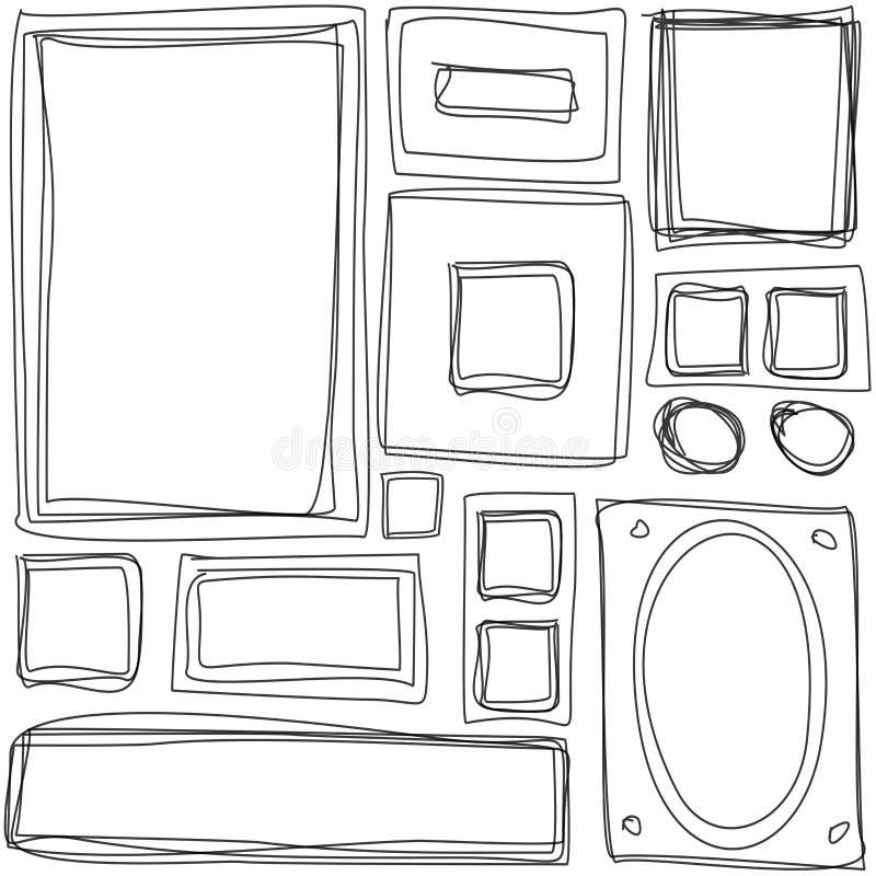 Ripetizione della struttura con le strutture disegnate a mano illustrazione vettoriale