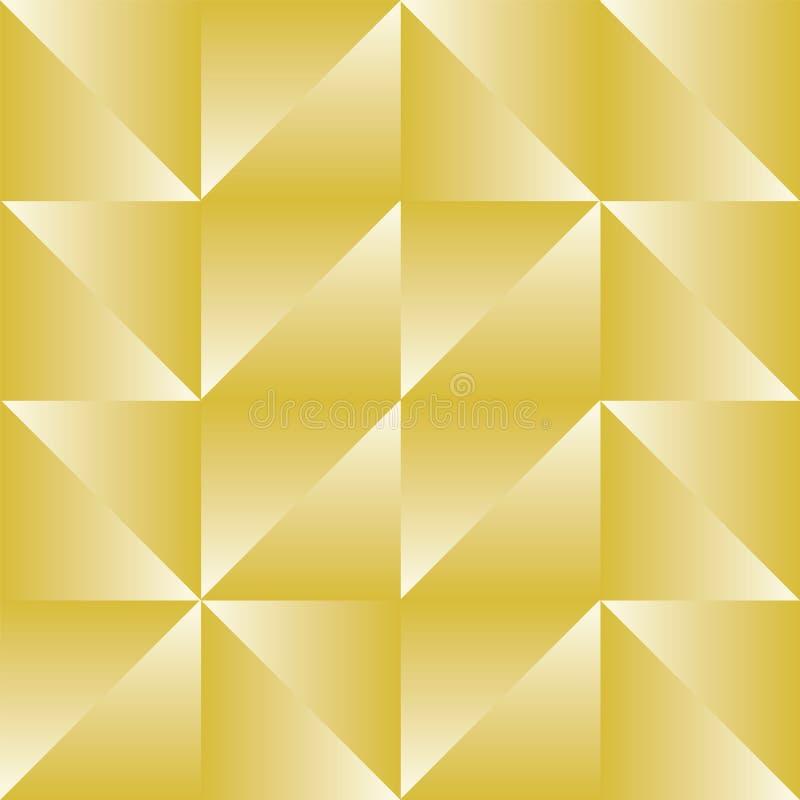Ripetizione senza cuciture geometrica del modello di Truchet dell'estratto di vettore illustrazione di stock
