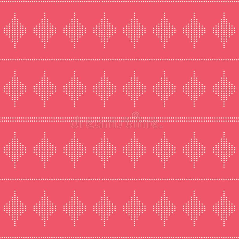 Ripetizione senza cuciture geometrica delle forme del diamante fatte con i punti Cenni storici di progettazione di vettore royalty illustrazione gratis