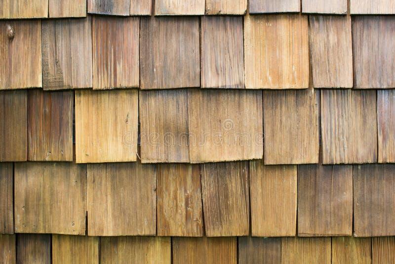Ripias de madera de la azotea imagen de archivo