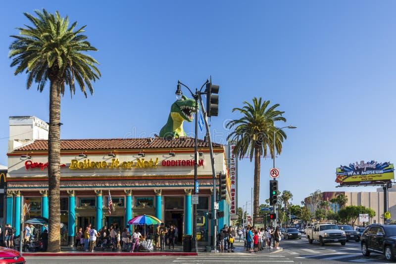 Ripley верит ему или не! на бульваре Голливуд, Голливуд, Лос-Анджелес, Калифорния, Соединенные Штаты Америки, северные стоковая фотография rf