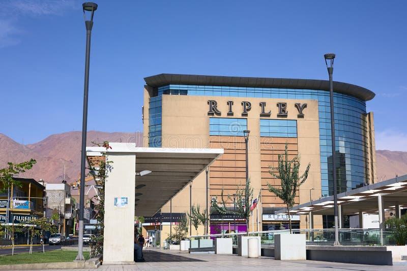 Ripley Department Store in Iquique, Chili royalty-vrije stock fotografie
