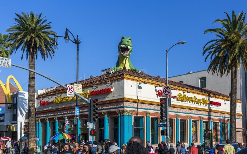 Ripley gelooft of niet het! voor Hollywood-Boulevard, Hollywood, Los Angeles, Californië, de Verenigde Staten van Amerika, het No stock afbeelding